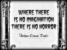 no imagination, no horror